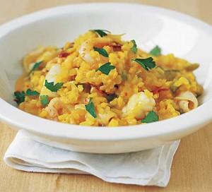 plato de arroz a la marinera