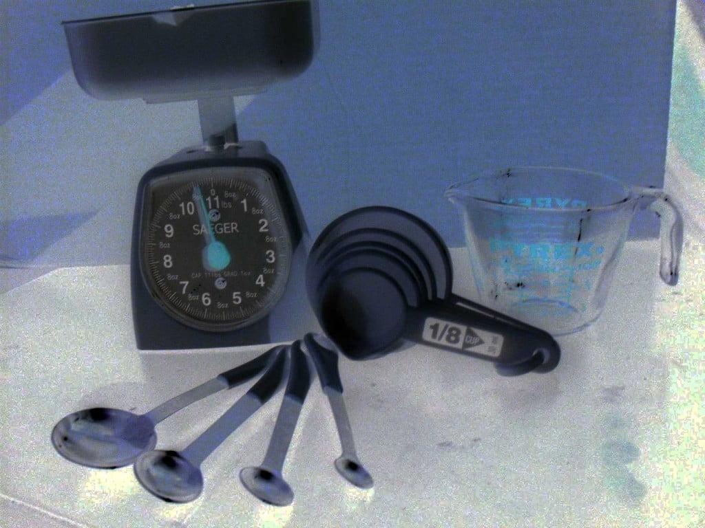 Calcular pesos y medidas para cocinar