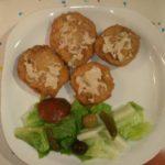 Setas de Cardo empanadas con salsa de roquefort