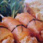 Canelones de Salmón rellenos de Mouse de cangrejo