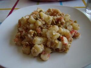 Patatas en salpicón