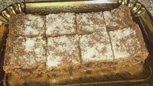 Brownies de coco y chocolate