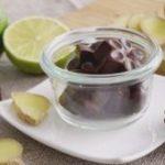 Chocolates de jengibre y lima