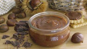 Crema de castañas y chocolate