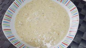 Risotto con gorgonzola, crema y nueces
