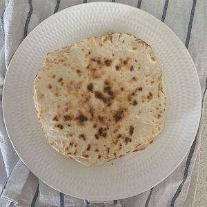 Vista aérea de tortillas en un plato