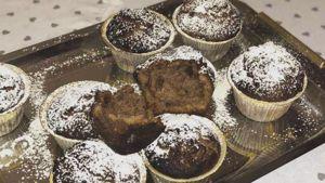 Como hacer Muffins de nutella y arroz inflado