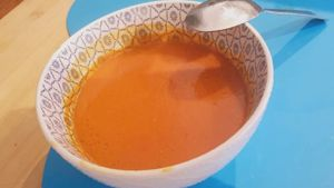 Como hacer Sopa de pimiento rojo